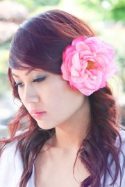 bridesmaid flower clip wedding