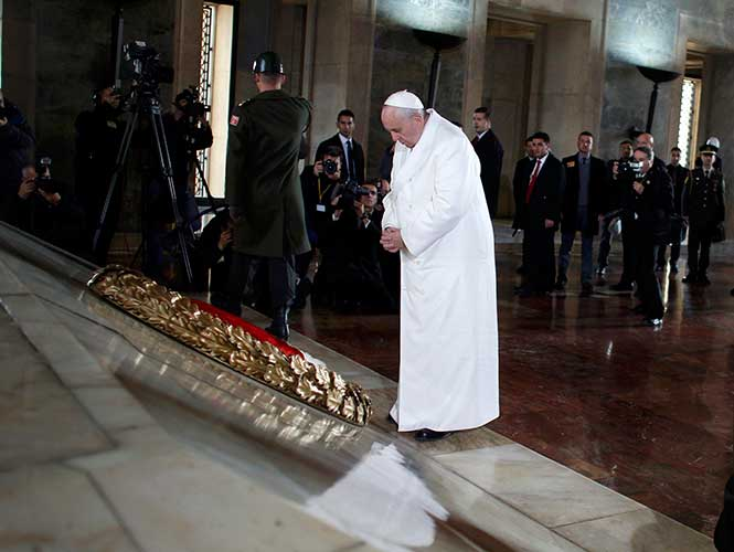 """En un discurso, pronunciado en italiano, el líder católico lamentó la """"guerras fratricidas"""" que, desde hace demasiados años, azotan al Medio Oriente. Foto: Reuters"""