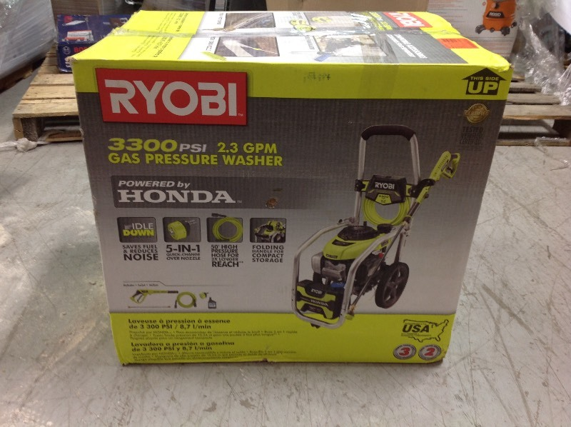 Ryobi 3300 Psi 2 3 Gpm Cold Water Gas Pressure Washer With Honda Gcv190 Idle Down In Good Conditions Kx Real Deals Inver Grove Tools Home Decor Housewares And More K Bid
