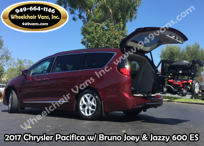 2017 Chrysler Pacifica with Bruno Joey and Pride Mobility