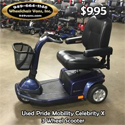 used chairs for sale chair hair dryer pride mobility celebrity x 3 wheel scooter