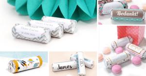 婚禮小物#037|DIY教學第二彈!用永豐雲端印刷貼紙自製迷你曼陀珠喜糖