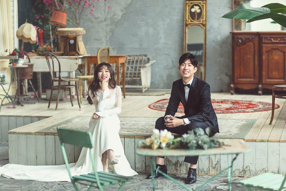 很可愛的郭氏夫妻檔,他們的婚紗照拍得很棒!(照片由成奕婚旅授權使用)