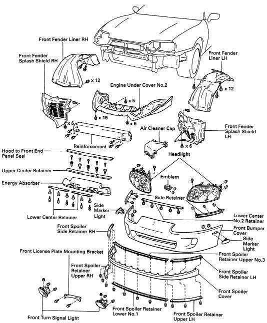 toyota pickup engine diagram 87