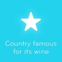 Country famous for its wine 94