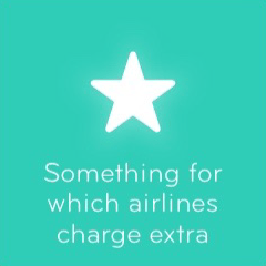 Something for which airlines charge extra 94