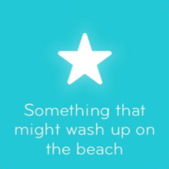 Something that might wash up on the beach 94