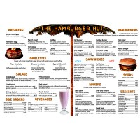 Math Activity Books, Menu Math Hamburger Hut Extra Menus