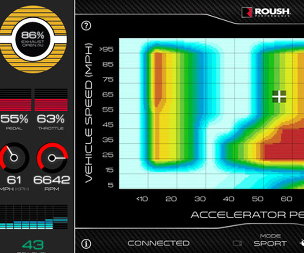 roush active exhaust uses an ios app to