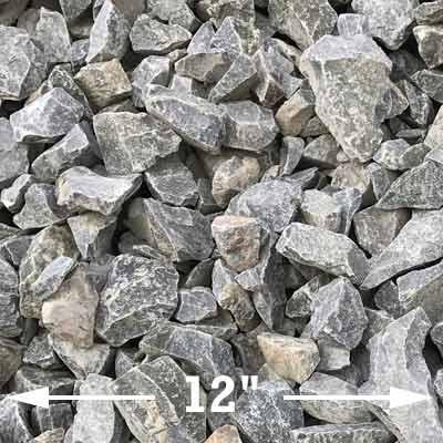 Large midnight basalt rocks