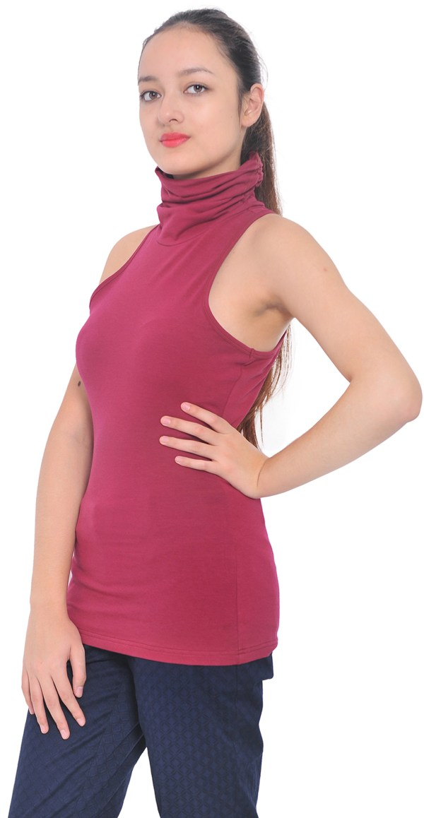 Sleeveless Turtleneck Tops for Women
