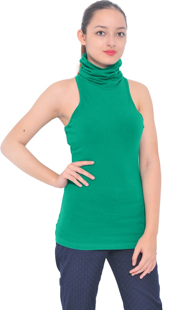 Women's Sleeveless Turtleneck Tops