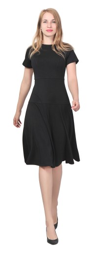 WOMENS ELEGANT CASUAL WORK OFFICE KNEE LENGTH DRESS SHORT