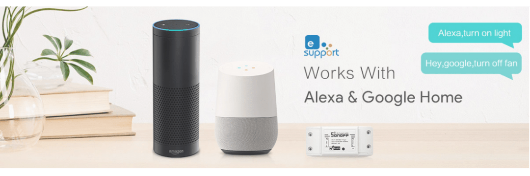 SONOFF Works with Alexa & Google Home