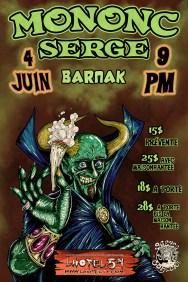 A Mononc' Serge poster for Hotel 54 / Pub pour Mononc' Serge à L'hotel 54