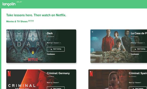 """La aplicación web """"Langolin"""" permite a los usuarios aprender idiomas mientras ves Netflix"""