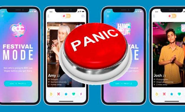 El servicio de citas Tinder implementará un botón de pánico para alertar de una emergencia