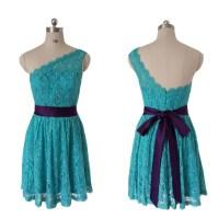 Lace Bridesmaid Dress,short Bridesmaid Dress,one Shoulder ...
