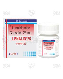 Lenalid 25mg 30 Capsules, Natco