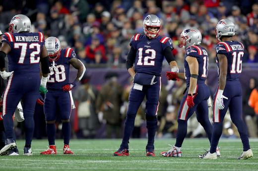 Tom  Brady and Julian  Edelman connected for nine completions on 15 targets.