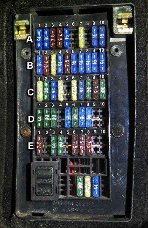 small resolution of porsche boxster 986 fuse box location schema diagram database 2002 porsche boxster fuse diagram