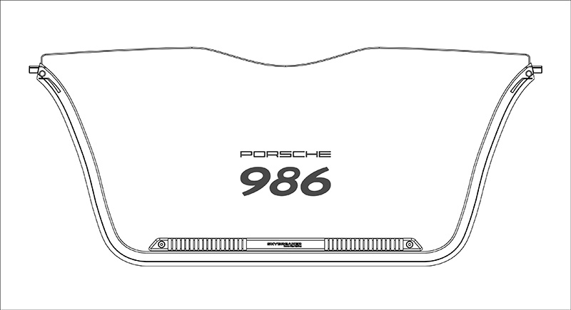 Porsche Wind Deflector with Edge Lighting [from CAD