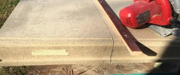 Best way to cut laminate countertop