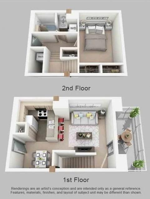 Desain Interior Rumah Minimalis Type 36 : desain, interior, rumah, minimalis, Gambar, Denah, Rumah, Lantai, Terbaru