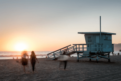 Sunset at Santa Cruz, California