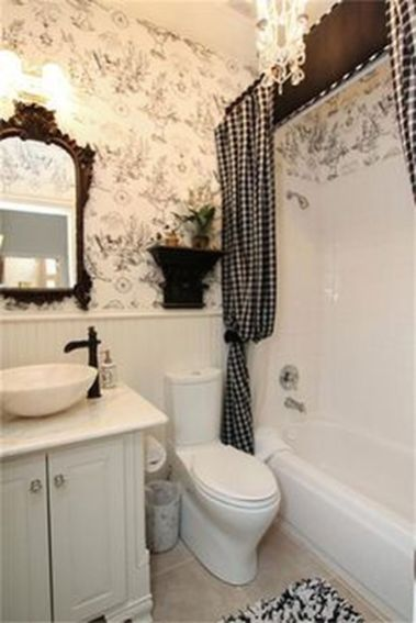 Beautiful Black And White Shower Curtains Design Ideas 06