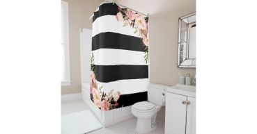 Beautiful Black And White Shower Curtains Design Ideas 08