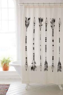 Beautiful Black And White Shower Curtains Design Ideas 10