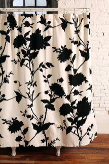 Beautiful Black And White Shower Curtains Design Ideas 16