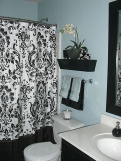 Beautiful Black And White Shower Curtains Design Ideas 18