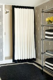Beautiful Black And White Shower Curtains Design Ideas 25