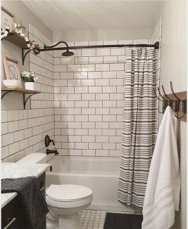 Beautiful Black And White Shower Curtains Design Ideas 28
