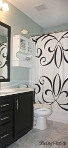 Beautiful Black And White Shower Curtains Design Ideas 34