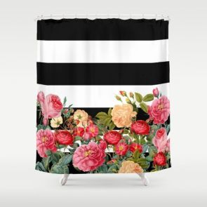 Beautiful Black And White Shower Curtains Design Ideas 35