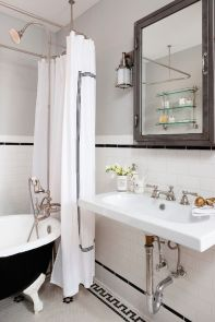 Beautiful Black And White Shower Curtains Design Ideas 36