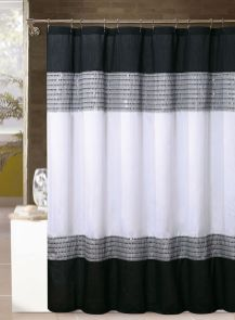 Beautiful Black And White Shower Curtains Design Ideas 39