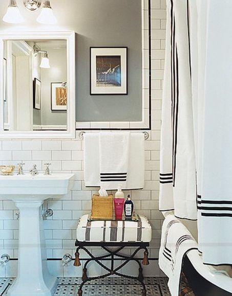 Beautiful Black And White Shower Curtains Design Ideas 45