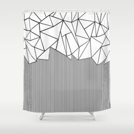 Beautiful Black And White Shower Curtains Design Ideas 49