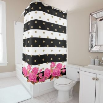 Beautiful Black And White Shower Curtains Design Ideas 69