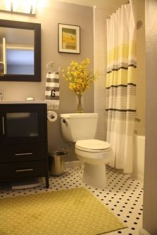 Beautiful Black And White Shower Curtains Design Ideas 70