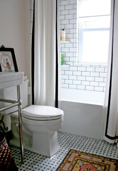 Beautiful Black And White Shower Curtains Design Ideas 71