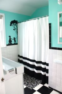 Beautiful Black And White Shower Curtains Design Ideas 73