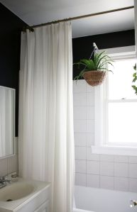 Beautiful Black And White Shower Curtains Design Ideas 77