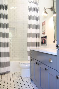 Beautiful Black And White Shower Curtains Design Ideas 78
