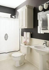 Beautiful Black And White Shower Curtains Design Ideas 92