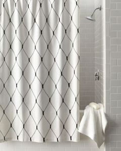 Beautiful Black And White Shower Curtains Design Ideas 93